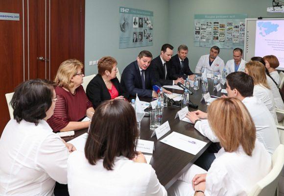 Андрей Бочаров: региону необходимо выстроить эффективную систему диагностики и профилактики онкозаболеваний